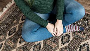 Zara in Barefoot Turtleneck Tape Up