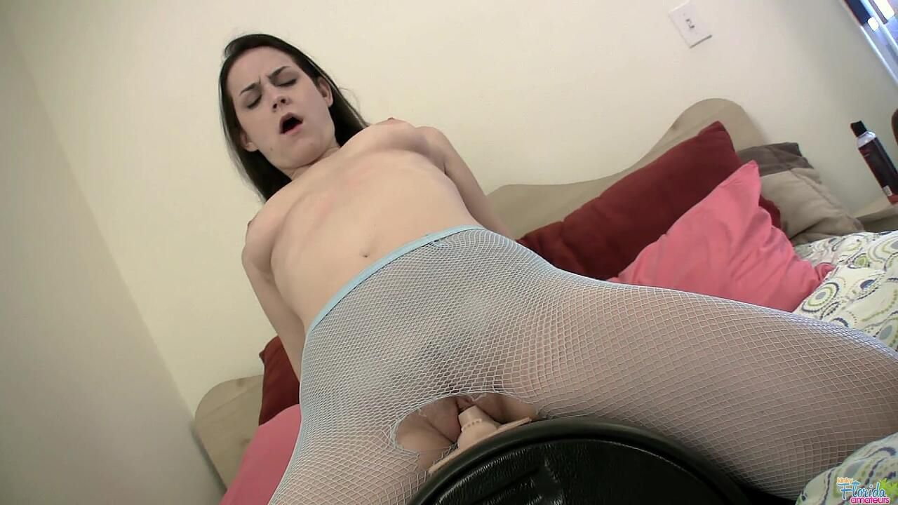 Kinky Florida Amateur Addie J. Rides Her Sybian In Pantyhose