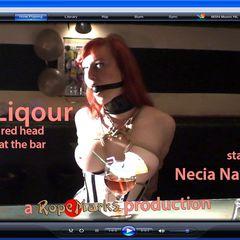 Hard Liquor - video #RopeMarks #Necia #Navine #Katzen #Von #Sterling #Korsakoff #Bar #Japanese #Rope #bondage #Shibari #Kinbaku #Red #Head #Sexy #Corset #Collar #Gag #Drool #Drooling #Ballet #Ballets