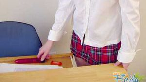 Hairy School Girl Teen Nichole Gets Spanked By Her Teacher