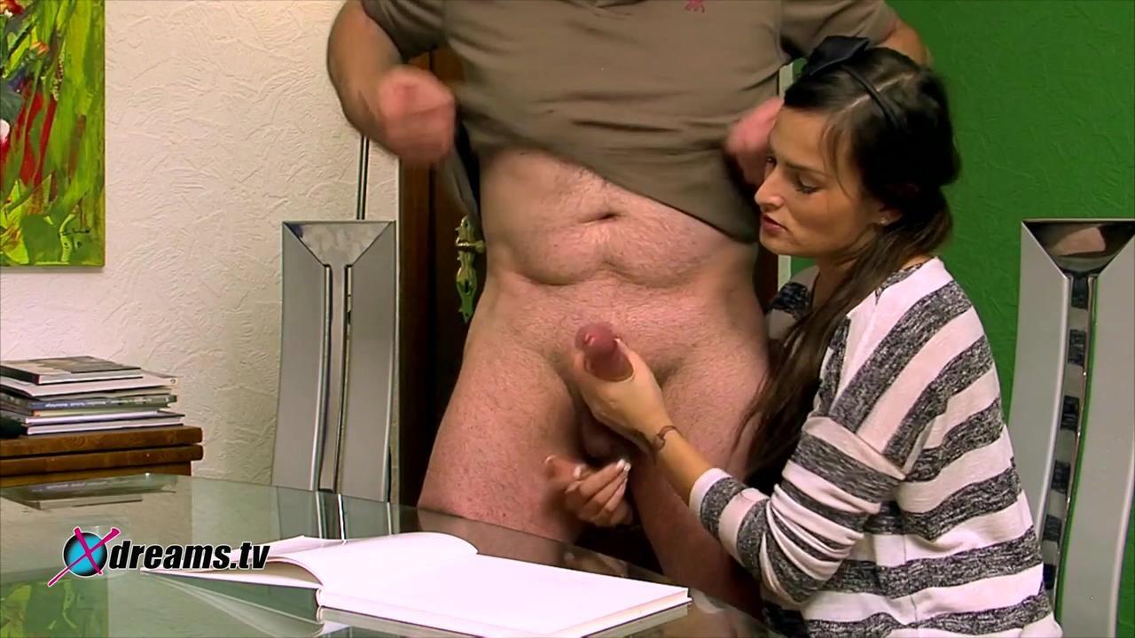 Holly Gives His Stepdad A Hot Handjob
