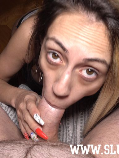 [Blow'n'Gag] Candy Girl goes on her knees for a quick blowjob