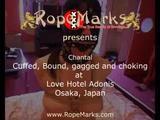 Chantal von RopeMarks, gefesselt und geknebelt im Love Hotel Adonis, Osaka, Japan