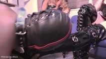 Worshipping shiny Mistresses' shoes - Full clip