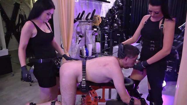 Mercilessly used by 2 mistresses Part 1