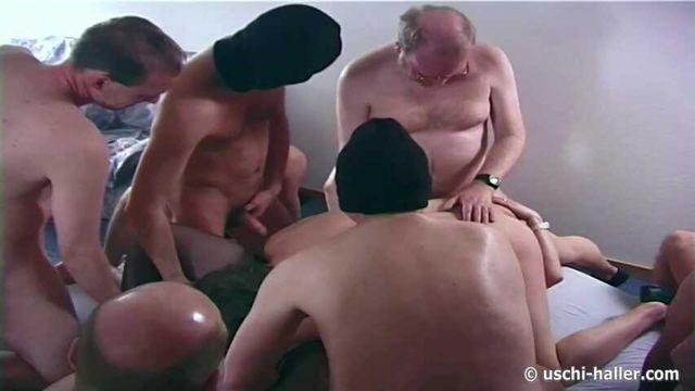 Cum orgy with hot MILF part 1