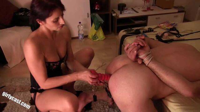 Femdom - Kiara BDSM session with a slave