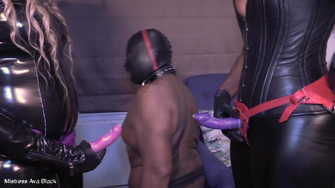 Double Ebony Dicking - Part One