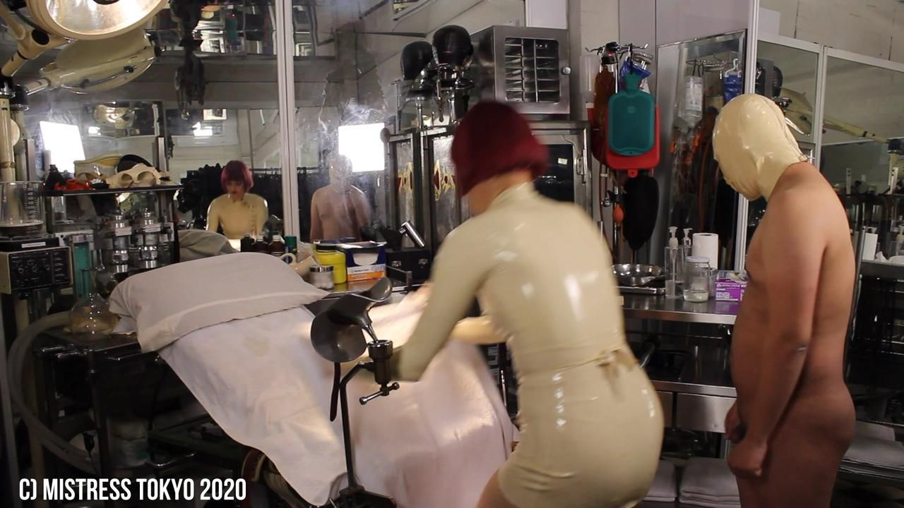 """Mistress Tokyo and Her """"Serious Kit"""" Human Milker in Her Medical Surgery"""