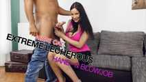 Abbie Cat's Extreme Lecherous Hand- and Blowjob