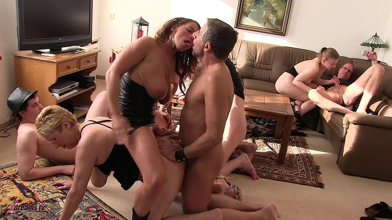 Private Swinger Party In My Living Room