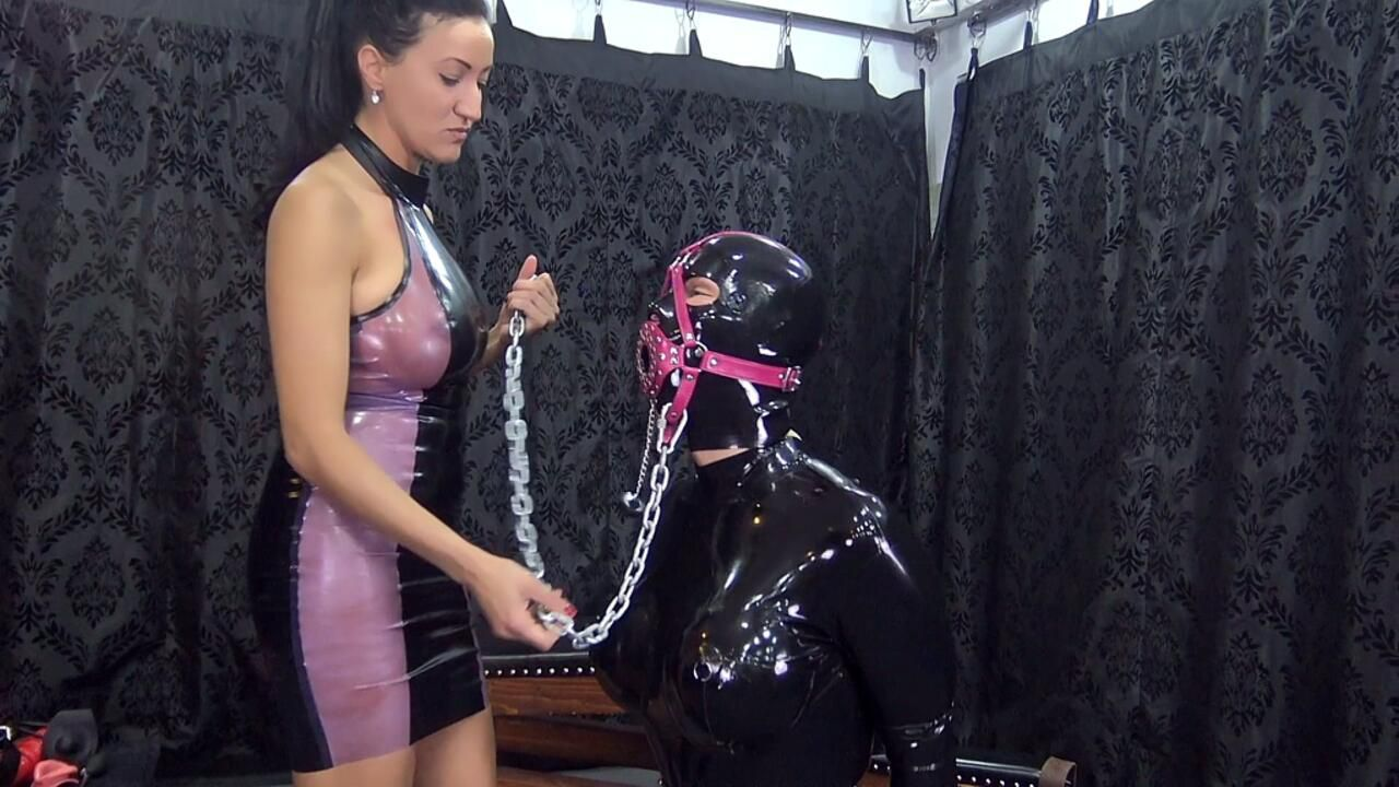 Sexually used rubber slave