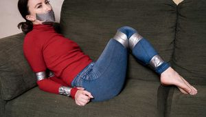 Sophia Smith in Barefoot Turtleneck and Silver tape