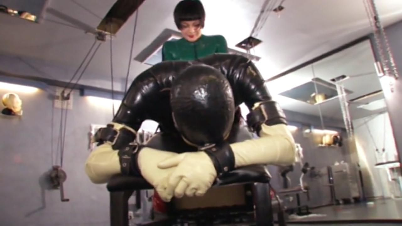 Rubber doll being fucked
