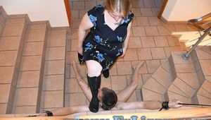 Tormented my house slave with boots and feet