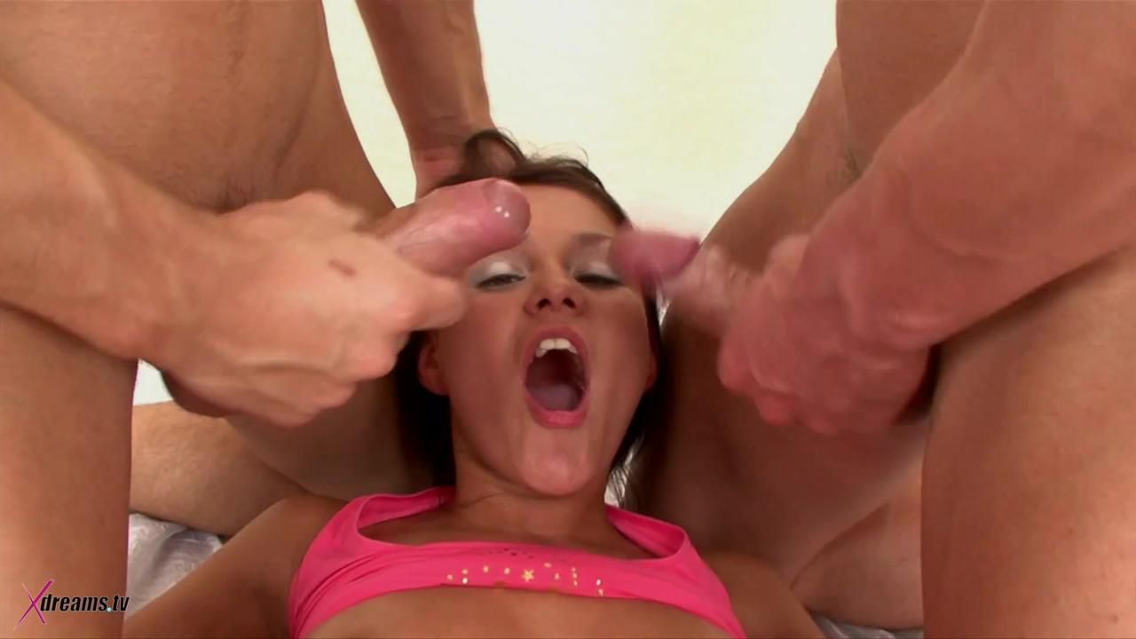Viola Get Her Holes Plugged By Two Men