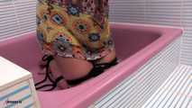 Olga's Desperate Situation In The Shower Tub
