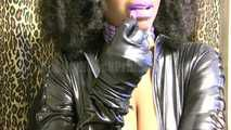 Latex Purple lips