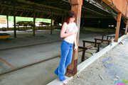 Kinky Florida Amateur Redhead Teen Barbie Stripping At A Warehouse