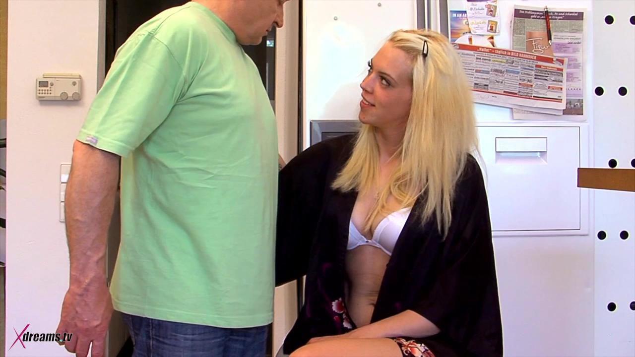 Penny's Nylons Jerking Handjob For Her Stepdad