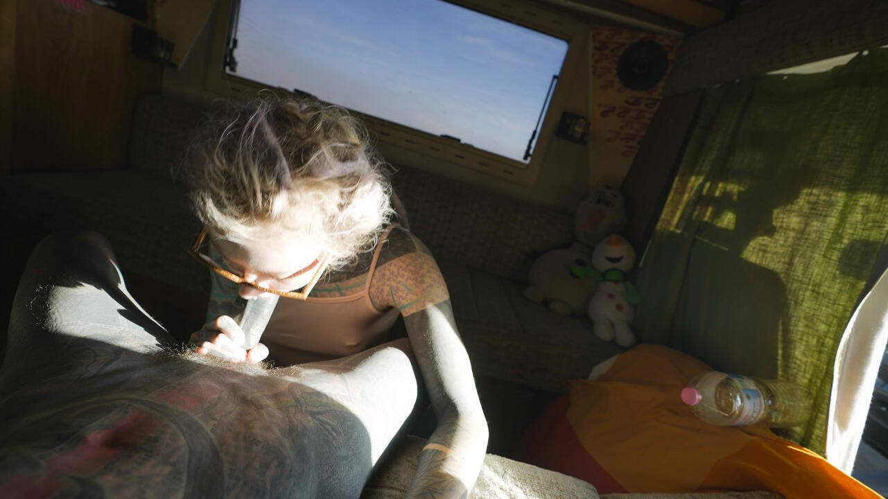 Anuskatzz and Lily Lu being naughty in camper van