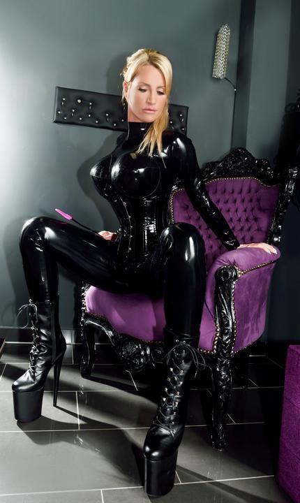 Black Latex Catsuit