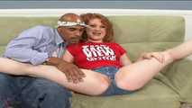 Black & White - Redhead Nymphomaniac Lucy Fire Rides Up BBC