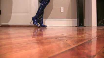 Latex Boot Catwalk
