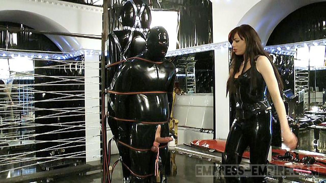Lady Ashley - Black Rubber Part 1