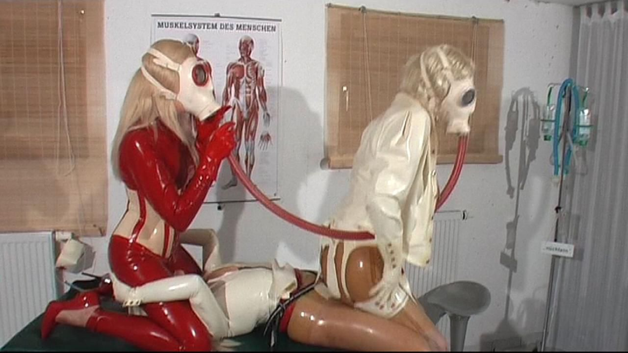 3 rubber nurse in latex ecstasy