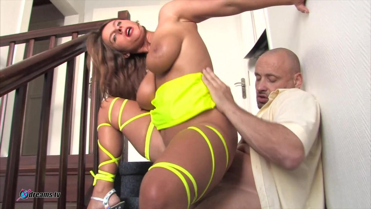 Susi's Hot Fuck With Neighbor At Staircase