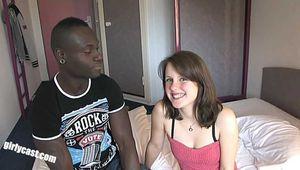 Sweet teen Jennin first BBC - UNCUT