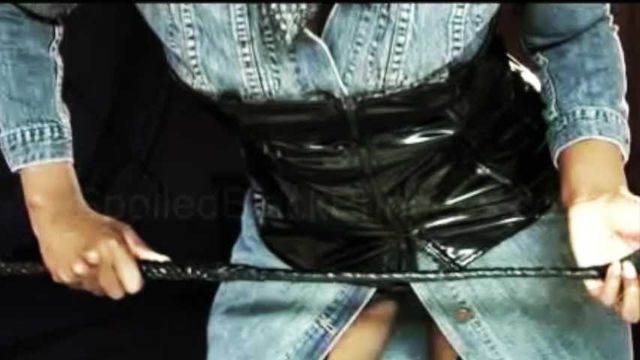 Duex masturbation in jeans latex