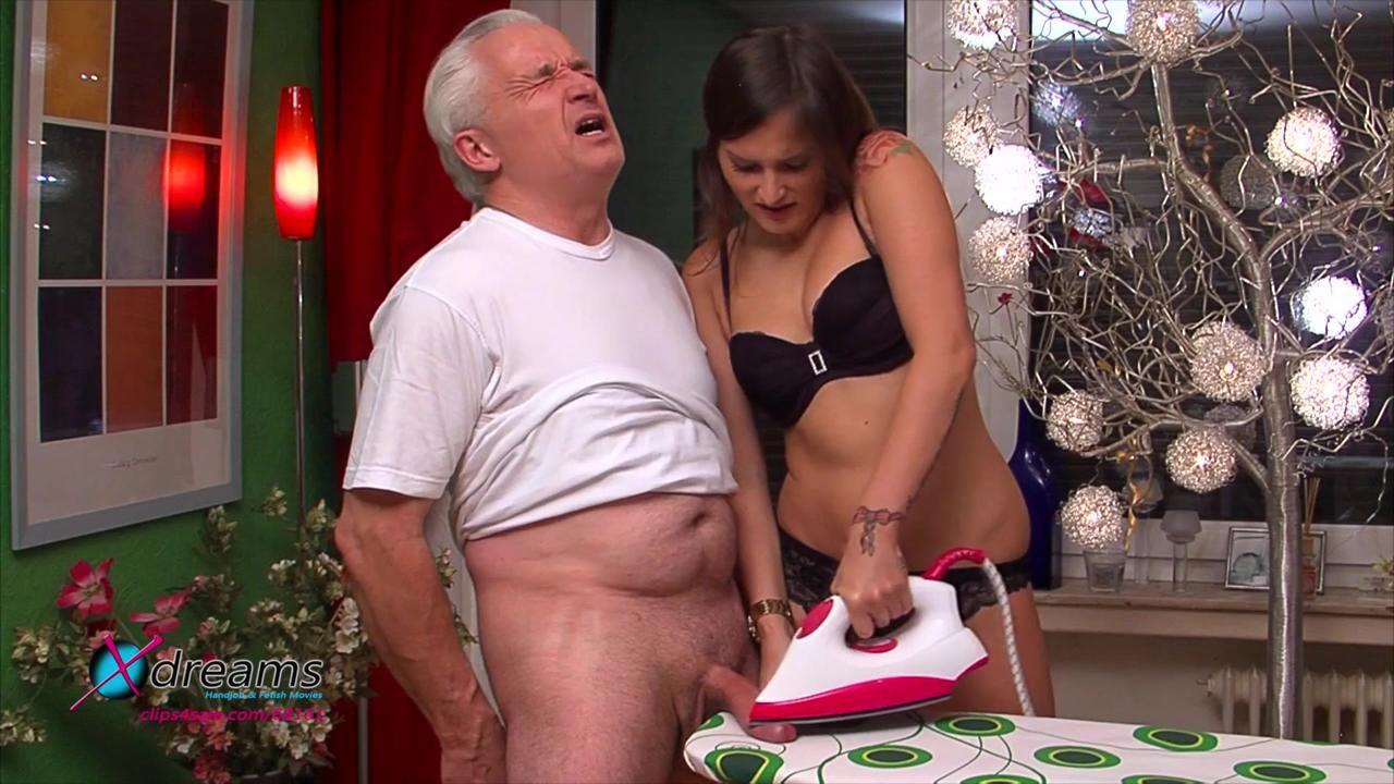 Holly's Cum On Ironing Board Handjob