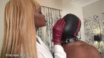 Red leather gloves make you burn!