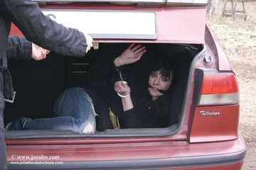 Emily Cuffed In A Trunk