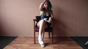 Anija in Cross Chair tied