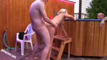 The neighbor & a friend fucked me in front of my Cuckold!