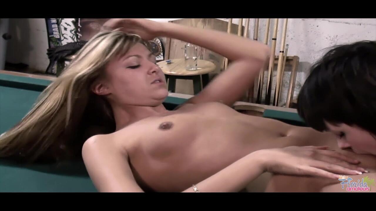 Kinky Florida Amateurs Kinky Teen Barbie And Her Girl Friend Lesbian Fun On Pool Table Part Two