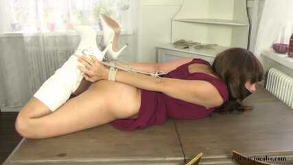 Hogtied With Boots And Tapegagged
