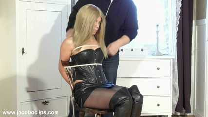 Superhot Blonde Tied To A Chair